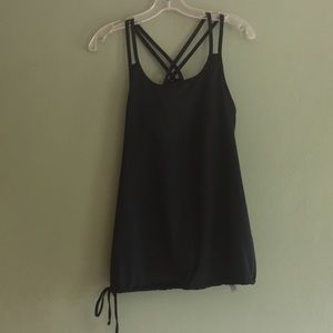 Champion C9 racerback side tie tank with bra Large